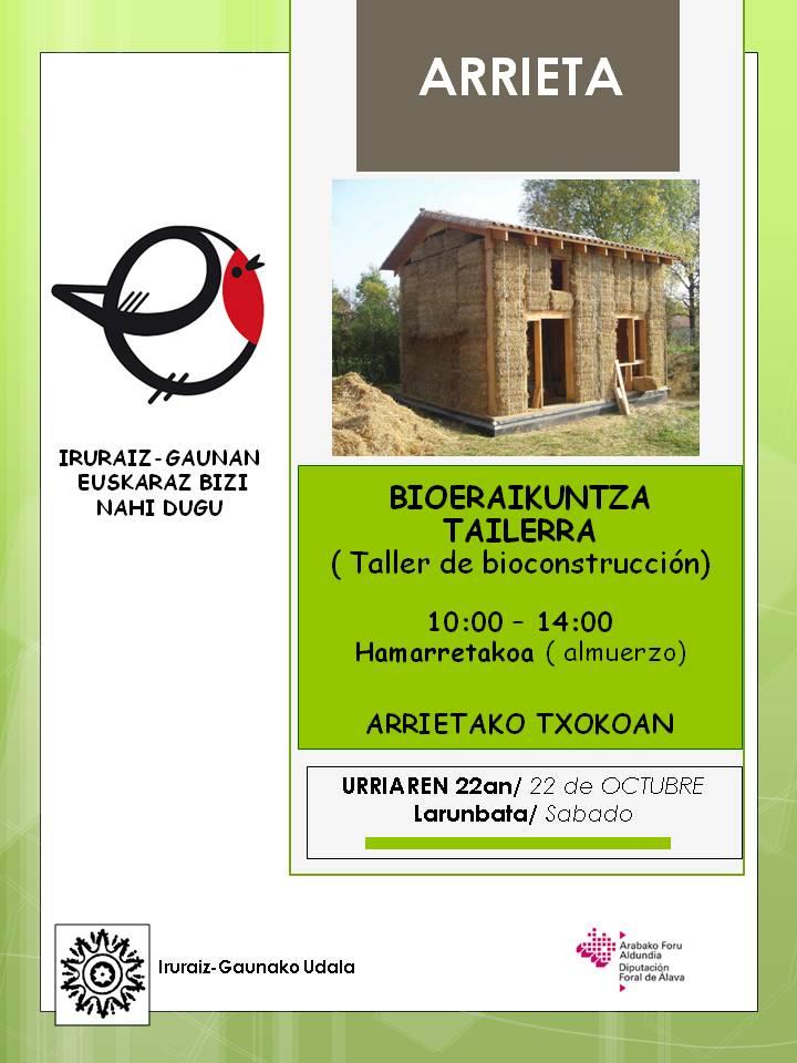 Taller de bioconstrucci n el 22 de octubre en el txoko de for Escuela arquitectura donostia